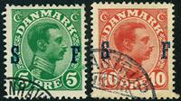 Danmark Soldatermærker 1917 - AFA nr. 1-2 - Stemplet