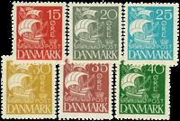Denmark 1927 AFA no. 169-74 mint
