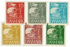 Danmark 1927 - AFA nr. 169-74 - postfrisk