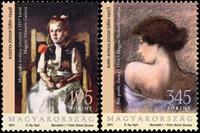 Ungarn - Malerier - Postfrisk sæt 2v