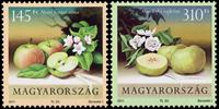Ungarn - Æbler og pærer - Postfrisk sæt 2v