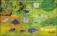 Singapore - Ferskvandsliv - Postfrisk special ark i omslag