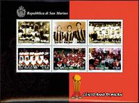 San Marino - AC Milano - Souvenir sheet mint