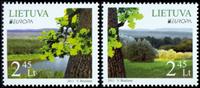 Litauen - Skoven Europa 2011 - Postfrisk sæt 2v