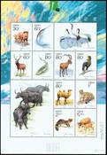 Kina - Vilde dyr - Postfrisk ark