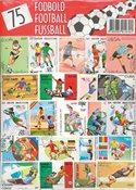 75 forskellige fodbold frimærker