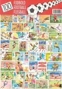 100 forskellige fodbold frimærker