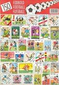 150 forskellige fodbold frimærker