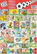 200 forskellige fodbold frimærker