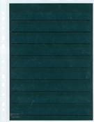 黑底活插页,A4,透明行,带A4套带