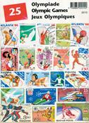 OL - Frimærkepakke - 25 frimærker