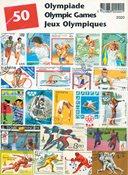 OL - Frimærkepakke - 50 frimærker