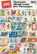 OL - Frimærkepakke - 200 frimærker