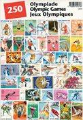 OL - Frimærkepakke - 250 frimærker
