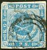 Danmark 1854 - AFA 3 - 2 Skilling blå