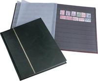 Indstiksbog - assorterede farver - str. A4 - 16 sorte sider