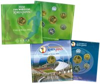 Corea del Sud - 2 serie di monete Mondiali calcio in bronzo