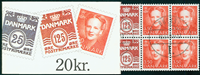 Danemark 20 kr. carnet distributeur 1991