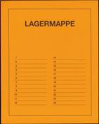 Lagermappe med 24 pergamynlommer