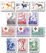 Finland - 12 frimærker - stemplet