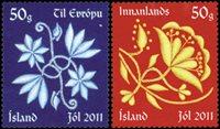 Island - Julen 2011 - Postfrisk sæt 2v