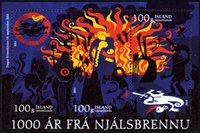 Island - Njals saga - Postfrisk miniark