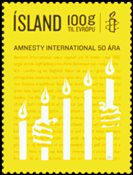 Islande - Amnesty International - Timbre neuf