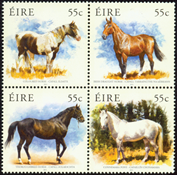 Ireland - Irish horses - Mint set 4v