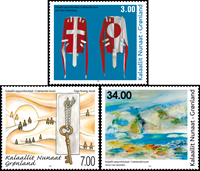 Greenland - Modern art - Mint set 3v