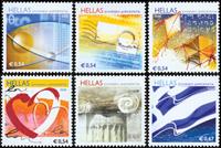 Grækenland - Greetings - Postfrisk sæt 6v