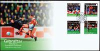 Gibraltar - Fodbold EM'04 - Førstedagskuvert 4v