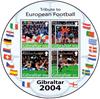 Gibraltar - Fodbold - Postfrisk rundt miniark