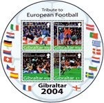 Gibraltar - Football Euro 2004 - Bloc-feuillet neuf rond