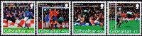 Gibraltar - Footballe Euro 2004 - Série neuve 4 v.