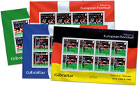 GIBRALTAR - jalkapallo-EM - 8 pienoisarkkia postituoreina