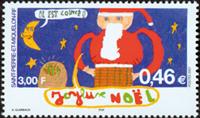 St. Pierre & Miquelon - Noël 2001 - Timbre neuf
