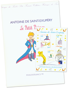 France - The little Prince - Pres.pack with cancelled s/s and blackprint