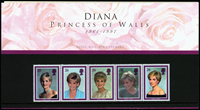 Gran Bretagna 1998 - Principessa Diana - presentation pack
