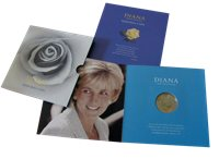 Great Britain - Princess Diana - Beautiful coin folder issued by Royal Mint