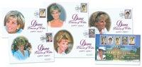 England - Prinsesse Diana mindekuverter - Flot samling á 6 førstedagskuverter