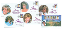 Grande-Bretagne - Princesse Diana - Belle collection de 6 env. premier jour