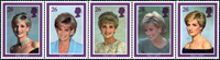 Great Britain - Princess Diana - Mint set 5v
