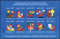 Danmark - Julemærket 2011 - Postfrisk selvkl. ark/10