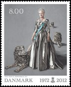 Danemark - Jubilée de règne - Timbre neuf