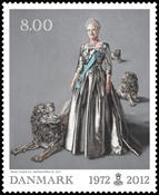 Danmark - Regeringsjubilæum - Postfrisk frimærke