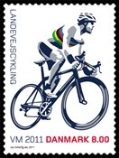 Danemark - Championnat du Monde cyclisme sur route - Timbre neuf