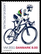 Danmark - VM landevejscykling - Postfrisk frimærke
