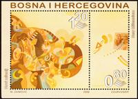 Bosnien Herzegovina - Millennium - Postfrisk miniark