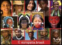 Belgien - Brasilien - Postfrisk miniark