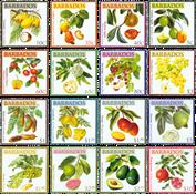 Barbades - Fruits de la région - Série neuve 16v